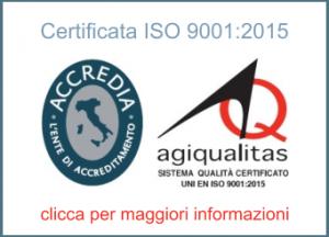 Certificata ISO 9001:2015 - clicca per maggiori informazioni